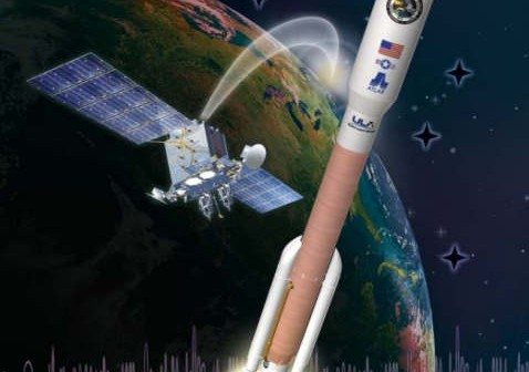 Plakat misji AEHF-1 (United Launch Alliance)