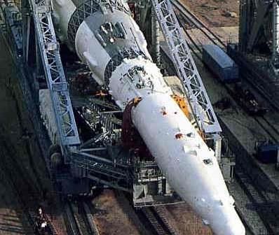 Transport radzieckiej rakiety księżycowej N-1 na wyrzutnię startową (Asif Siddiqi/Fordham University)