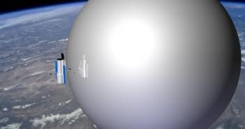 Nadmuchiwany balon mógłby posłużyć do deorbitacji satelitów nawet wielkości Teleskopu Hubble (GAC/NASA)