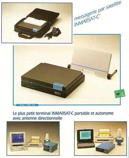 Terminal Inmarsat-C, o maks. szybkości przesyłu 600 bps (Credits: F1jmm/WikiCommons)