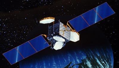Satelita typu Palapa-C / Credits: Boeing BSS