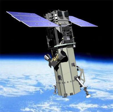 WorldView-2 - wizja artystyczna (Credits: Ball Aerospace)