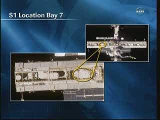 Położenie modułu pompy do wymiany / Credits - NASA TV