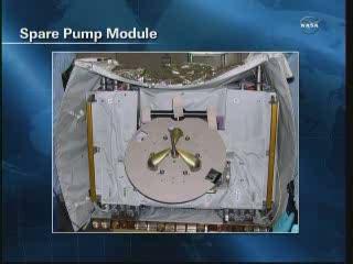 Moduł zapasowej pompy / Credits - NASA TV