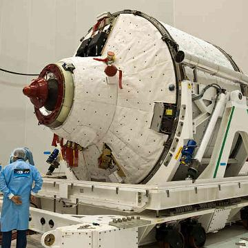Sekcja ciśnieniowa pojazdu ATV-2 / Credits - EADS, ESA, ArianeSpace