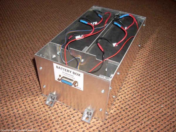 Ukończone pudełko baterii zasilającej urządzenie (SKA)