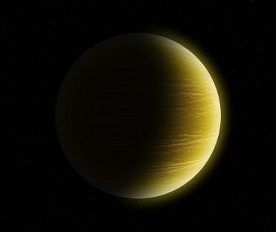 Możliwy wygląd Ups And e - odpowiednik Jowisza z naszego Układu Słonecznego / Credits - K. Kanawka