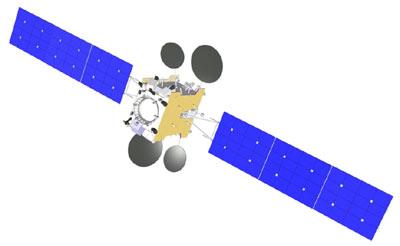 Satelita Amos-5, oparty o platformę Express 1000N / Credits: ISS Resznietiew