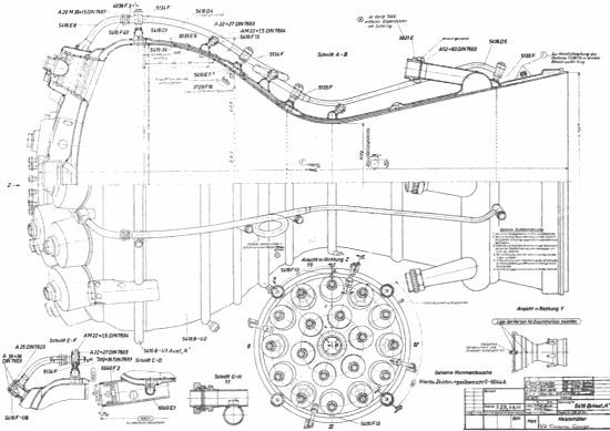 Szkic konstrukcyjny silnika rakietowego V-2 (Scott Lowther)