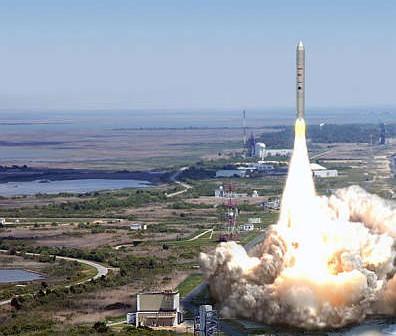 Start rakiety Taurus II z bazy Wallops (Orbital)