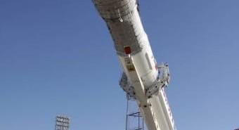 Rakieta Proton ustawiana na stanowisku startowym, 2 września 2010