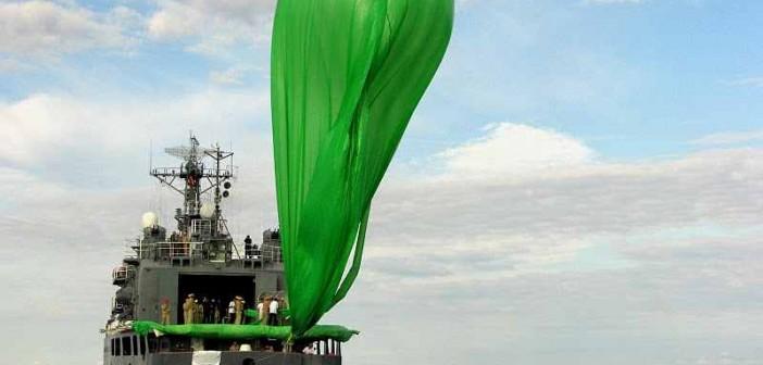 Napełnianie balonu, który wyniósł rakietę Helen 2. Credits: ARCA