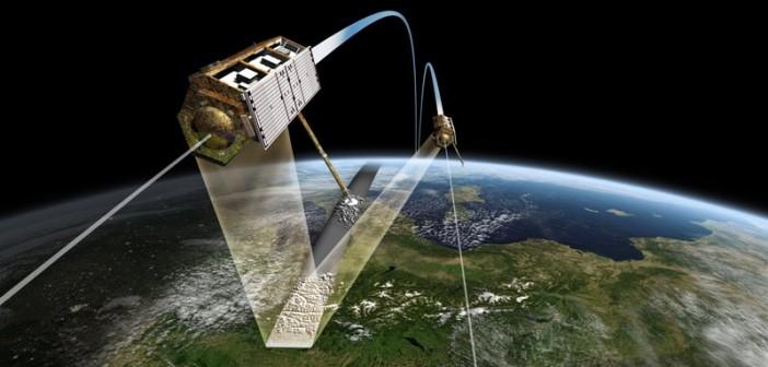 Wizualizacja lotu w formacji satelitów TerraSAR-X i TanDEM-X / Credits: DLR