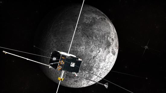 Wizja artystyczna satelitów ARTEMIS w pobliżu Księżyca (NASA)