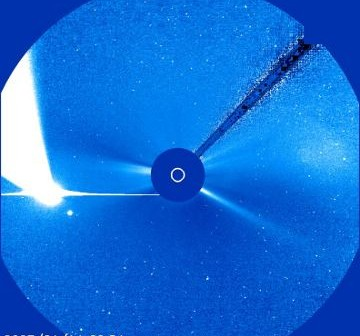 Kometa McNaught w obiektywie LASCO C3 - rok 2007 / Credits - NASA, SOHO, ESA
