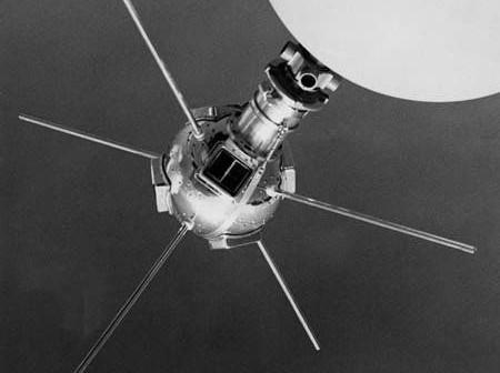 Makieta Vanguarda 1 pokazywana podczas 'Parady Postępu' w Cleveland, Ohio (NASA)