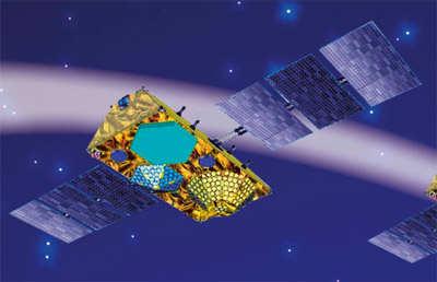 Wizja artystyczna satelity systemu Globalstar-2 (Thales Alenia Space)