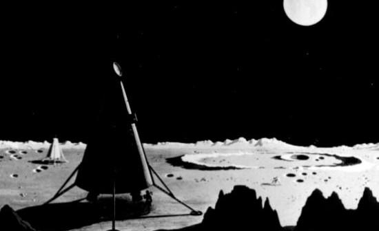 Lądowniki misji projektu Rosena i Schwenka na powierzchni Księżyca (NASA)