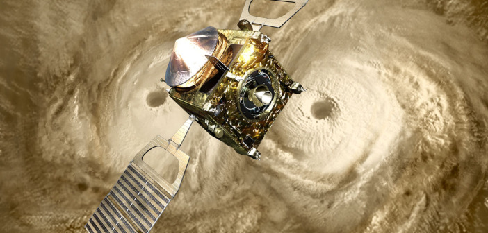Sonda Venus Express i podwójny wir nad północnym biegunem Wenus