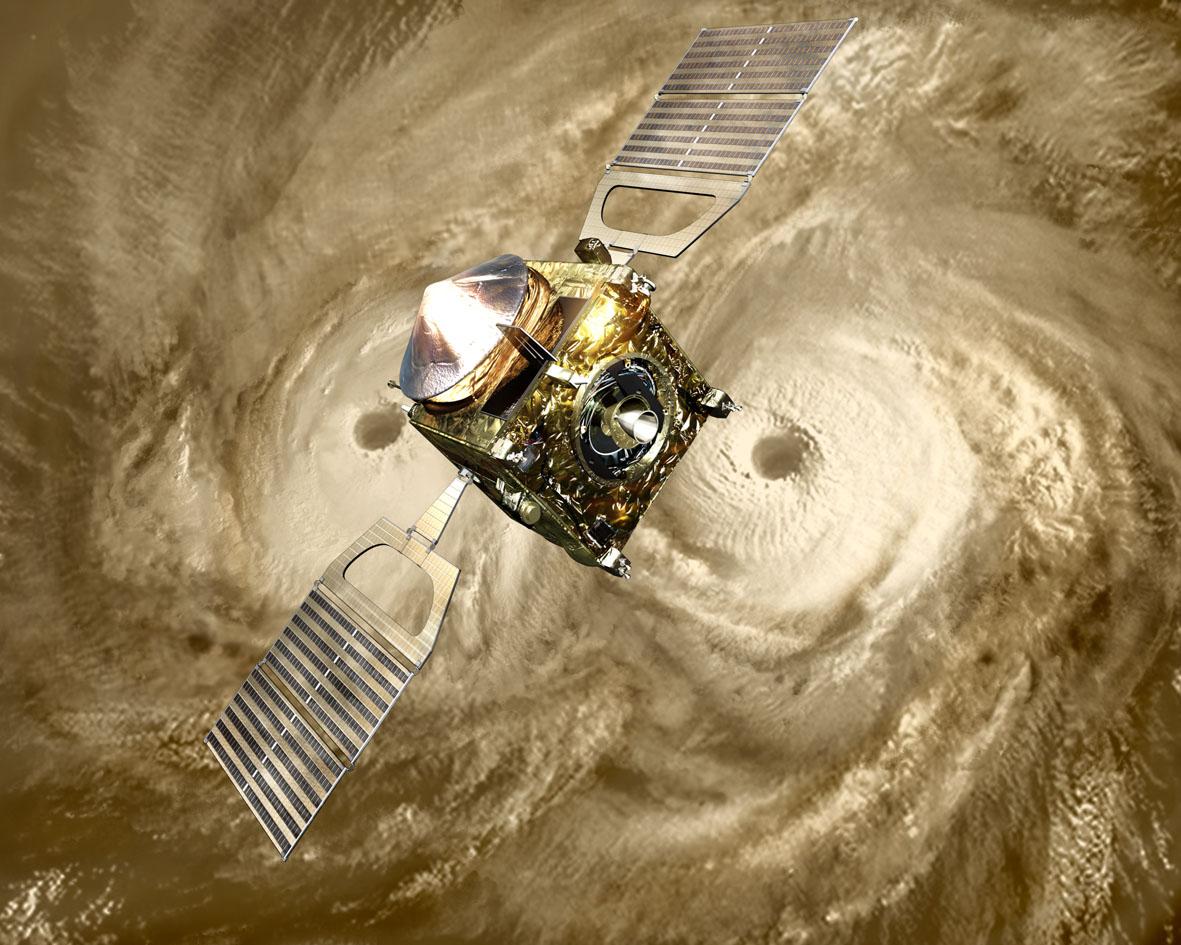 Sonda Venus Express na orbicie okołowenusjańskiej / Credits: ESA
