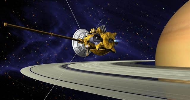 Cassini na orbicie Saturna / Credits: NASA-JPL