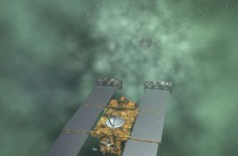 Wizja artystyczna sondy Stardust, zbliżającej się do komety Tempel 1 (Lockheed Martin)