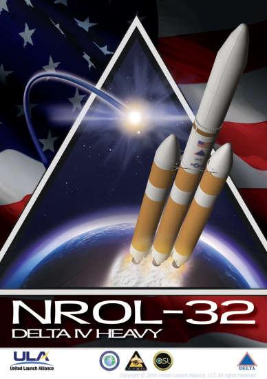 Plakat misji NROL-32 (ULA)