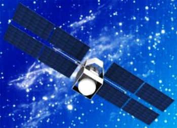 Wizja artystyczna satelity systemu Meridian (NPO PM)
