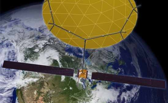 SkyTerra-1 na orbicie okołoziemskiej - wizualizacja / Credits: Boeing, LightSquared