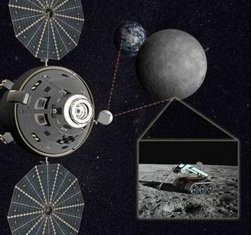 Wizja załogowej wyprawy do punktu L2 w układzie Ziemia-Księżyc / Credits - Lockheed Martin