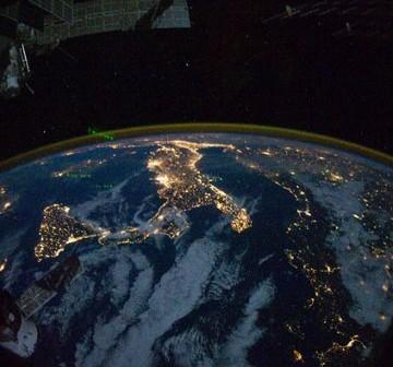 Półwysep Apeniński z pokładu ISS / Credits - NASA