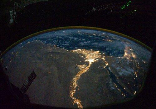 Delta Nilu z pokładu ISS / Credits - NASA