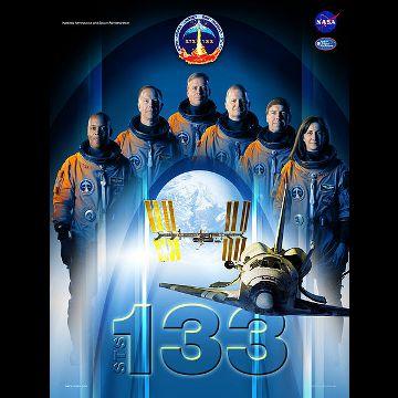 Grafika misji STS-133 / Credits - NASA