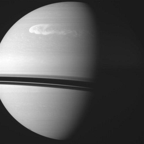 Sztorm na Saturnie / Credits - NASA, JPL