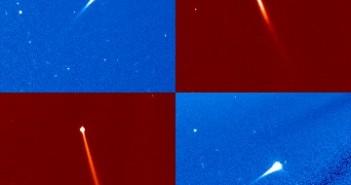 Mozaika komet zarejestrowanych przez sondę SOHO / Credits - NASA, ESA, SOHO