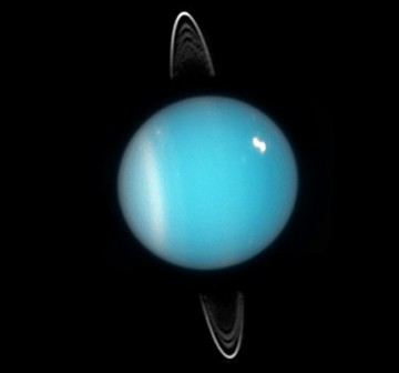 Uran - zdjęcie z 2005 roku wykonane przez teleskop Hubble / Credits - NASA, ESA, and M. Showalter (SETI Institute)