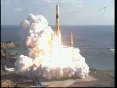 Moment start rakiety H-IIB / Credits - NASA TV, JAXA
