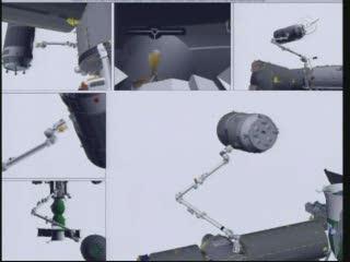 Ujęcie na kilka sekund przed przechwyceniem HTV-2 - godzina 12:41 CET / Credits - NASA TV