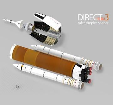 Rakieta Jupiter 130 z rodziny DIRECT - koncepcja SD HLV bazuje na tej koncepcji / Credits - DIRECT launcher (released to public domain)
