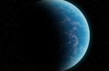 Skalista egzoplaneta, w całości pokryta oceanem. / Credits - K. Kanawka