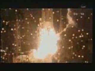 Moment startu rakiety Ariane z ATV-2 na pokładzie / Credits - ESA, NASA TV