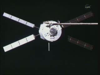 ATV-2 zbliża się do ISS - godzina 16:25 CET / Credits - NASA TV