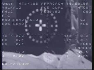 Tuż przed dokowaniem do ISS - godzina 16:59 CET / Credits - NASA TV