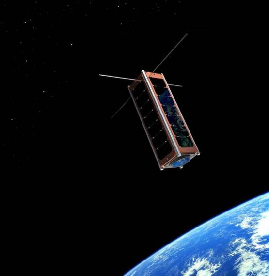 UKube 1 - potrójny CubeSat / Credits: Clyde Space