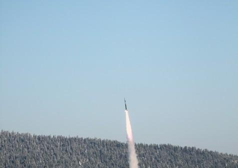 Start rakiety REXUS-9, 22 lutego 2010 / Credits: Swedish Space Corporation