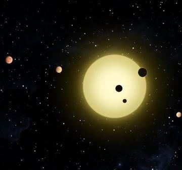 Artystyczna wizja układu Kepler-11 / Credits - NASA