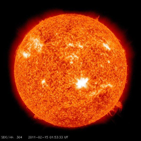 Stan Slonca 7 minut po maksymalnej fazie rozblysku / Credits - NASA, SDO