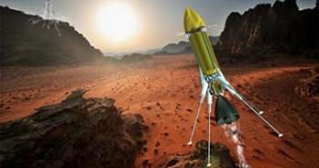 Marsjański skoczek - wizualizacja / Credits: Idaho National Laboratory