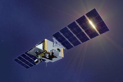 Wizja artystyczna satelity STSS / Credits: Northrop Grumman