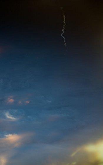 Start rakiety Ariane 5 widziany z pokładu ISS / Credits - NASA